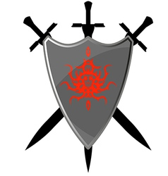 Safety sword symbol board element emblem safety wh vector