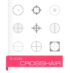 Crosshair icons set vector