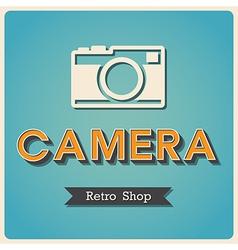 Camera shop retro poster vector