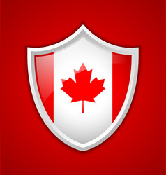 Canadian shield icon vector