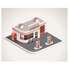 Roadside gas station vector