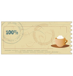 Coffee coupon vector