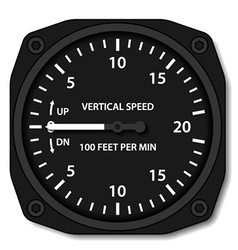 Aviation variometer vertical speed indicator vector