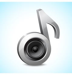 Audio speaker note vector