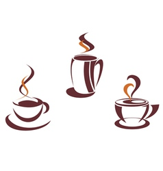 Coffee symbols and logos vector