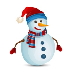 Snowman isolated vector