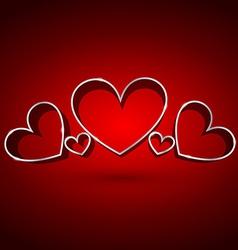 Attractive background of hearts vector
