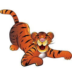 Decorative baby tiger on a white background vector