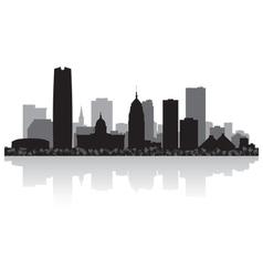 Oklahoma city usa skyline silhouette vector