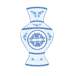 Vase faience vintage vector