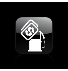 Fuel cost icon vector