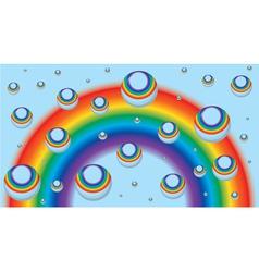 Rainbow drops vector