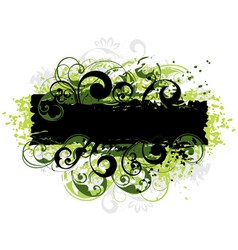 Green and black border vector