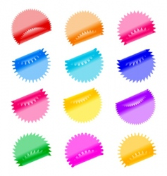 Labels badges and stickers vector