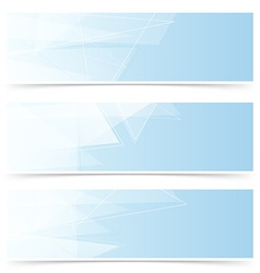 Web crystal blue headers footers collection vector