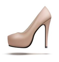 Beige vintage high heels pump shoes vector