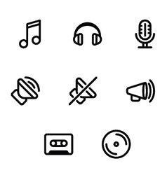 Set of music and sound icons vector
