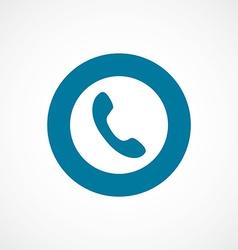 Phone bold blue border circle icon vector