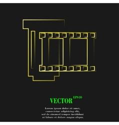 Negative films icon symbol flat modern web design vector