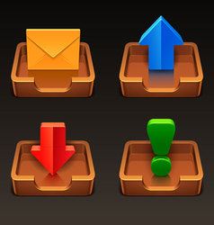 Mailbox icons vector