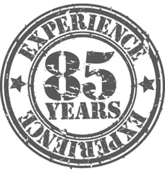 Grunge 85 years of experience rubber stamp vector