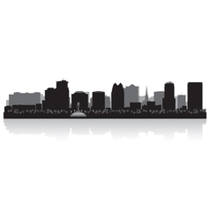 Orlando usa city skyline silhouette vector
