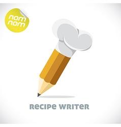 Recipe writer vector