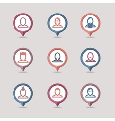 Userpic mapping pins icon vector