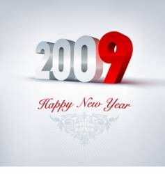 2009 greeting card vector