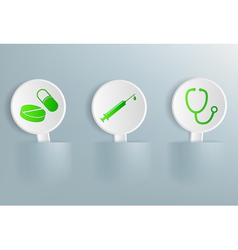 Medical signs on tablets vector