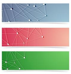 Molecular web header footer collection vector