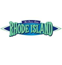 Rhode island the ocean state vector