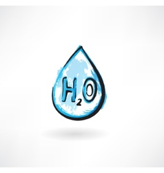 Water drop grunge icon vector