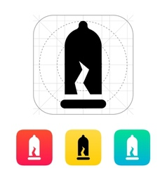 Damaged condom icon vector