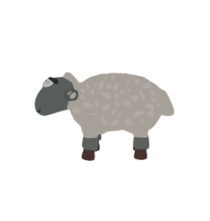 Funny lamb isolated on white background eps10 vector