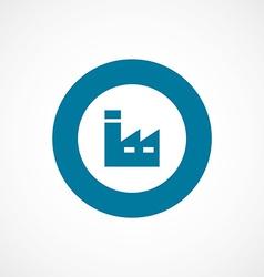 Factory bold blue border circle icon vector