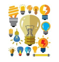 Bulbs icons vector