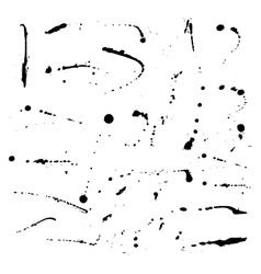 Set of ink blots vector