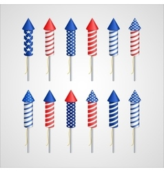 American independence day holiday rocket vector