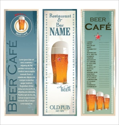 Beer cafe design template vector