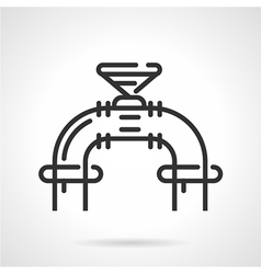 Industrial valve black line icon vector