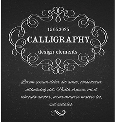 Page decoration calligraphic design elements vector