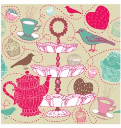 Tea background vector