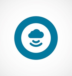 Connect cloud bold blue border circle icon vector