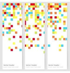 Abstract template vertical banner vector