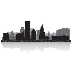 Providence usa city skyline silhouette vector