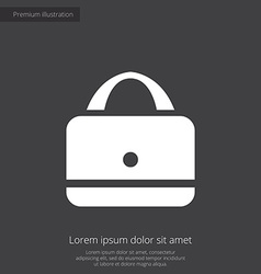 Purse premium icon white on dark background vector