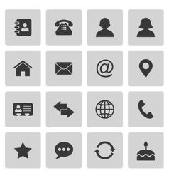 Contact icons vector