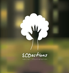 Eco actions design vector