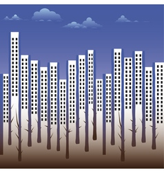 Building silhouette city vector